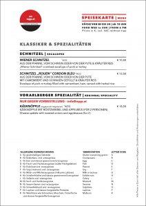 Speisekarte: Klassiker und Spezialitäten | delicacies